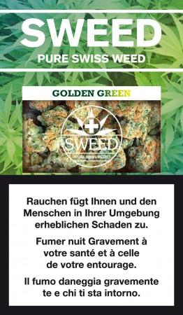 Sweed Golden Green CBD-Hanfblüten Tabakersatz