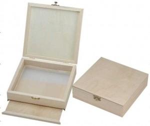 Aufbewahrungsdose aus Holz mit Pollensieb 180 x 180 x 50mm