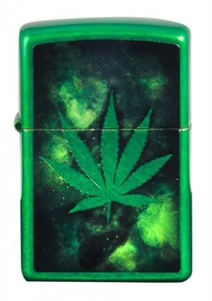 Zippo Green Leaf Benzinfeuerzeug
