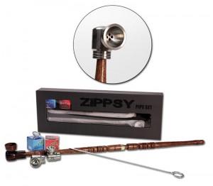 Zippsy Pfeifen-Set mit Holzkopf und 2 Metallköpfen