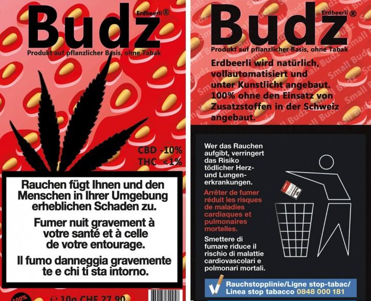 Budz Erdbeerli Hanfblüten Tabakersatz