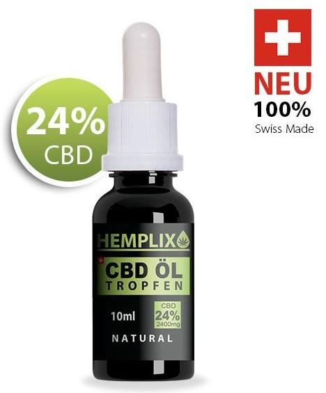 Hemplix CBD Öl Tropfen 24% 10ml Natural