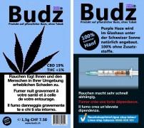 Budz Purple CBD-Hanf Blüten Tabakersatz