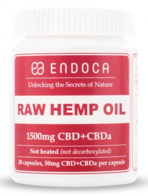 Endoca Raw Hemp Oil Capsules Kapseln 1500mg CBD + CBDa