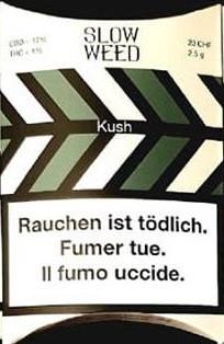 SlowWeed Kush CBD-Hanfblüten Tabakersatz
