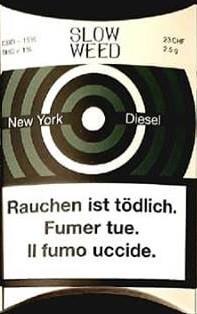 SlowWeed New York Diesel CBD-Hanfblüten Tabakersatz