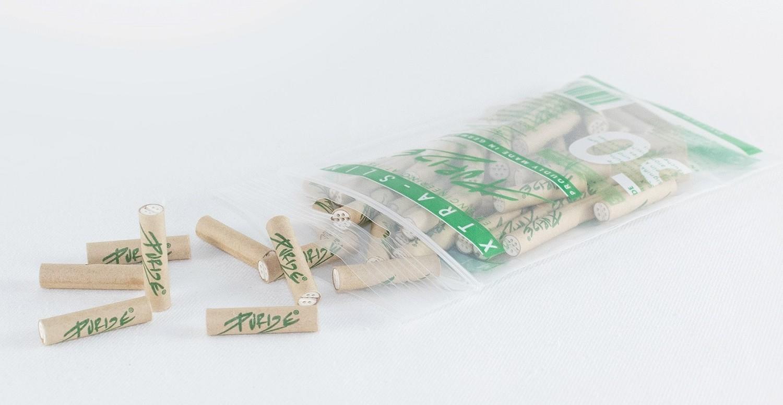 PURIZE Aktivkohlefilter XTRA Slim Organic 6mm 50 Stk.