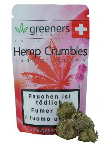 Greeners Crumbles CBD Hanf  Tabakersatz