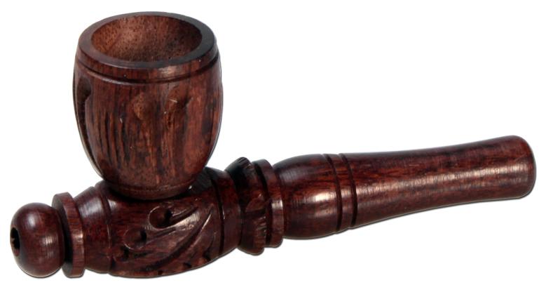 Holzpfeife gedrechselt 8cm