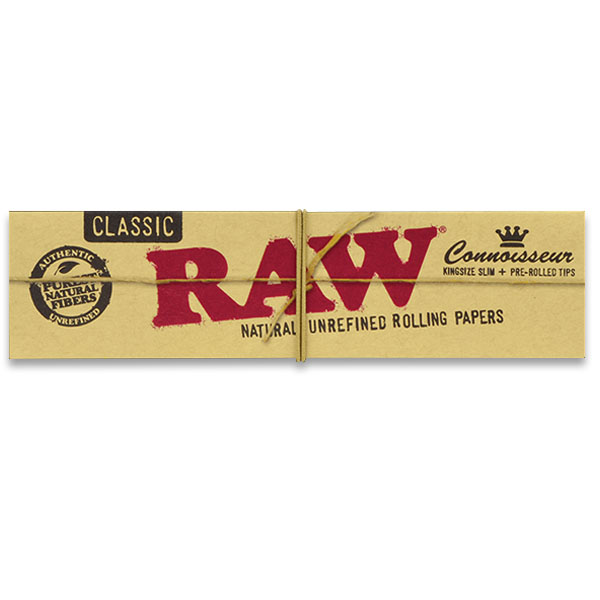 Raw Classic Connoisseur Kingsize Slim mit Pre-Rolled Filter