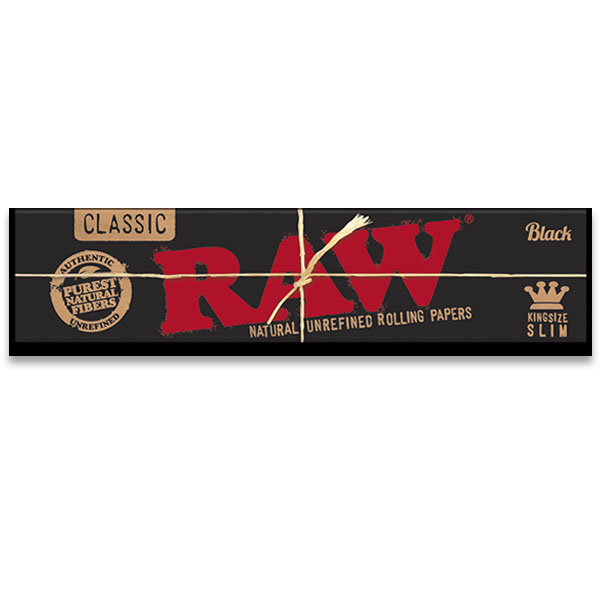 Raw Black Unrefined KingSize Slim Papers