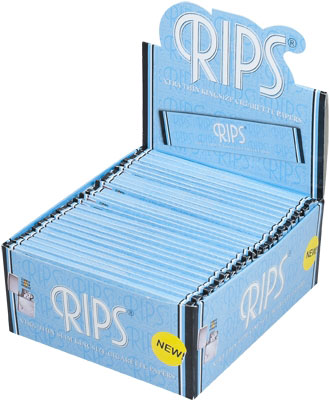 Rips Xtra Thin Blue KingSize Slim Papers