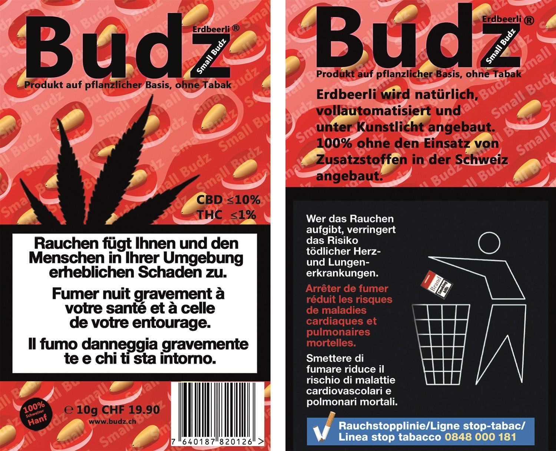 Budz Erdbeerli Small Buds Hanfblüten Tabakersatz