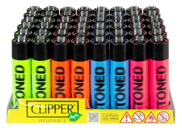 Clipper Feuerzeug Stoned Blurry Fluo