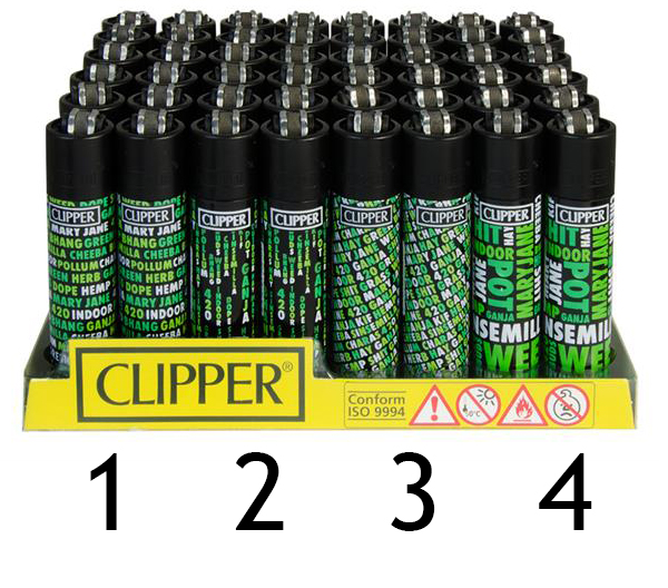 Clipper Feuerzeug Cannafonts