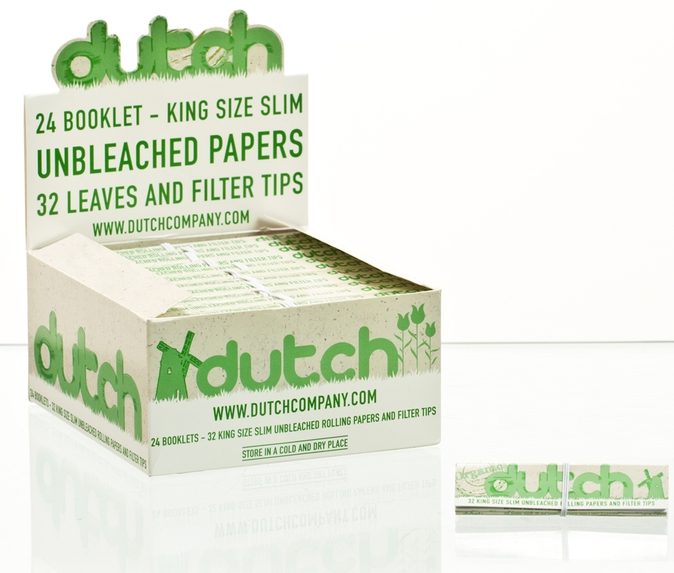 Dutch Unbleached King Size Papers with Filtertips
