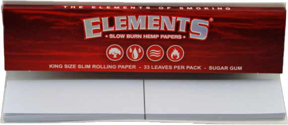 Elements Red - King Size Slim Connoisseur