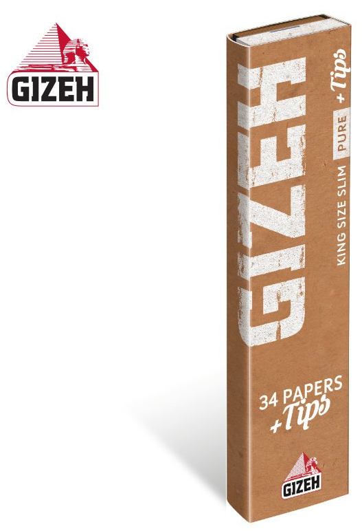 GIZEH Pure King Size Slim Papers + Filtertips