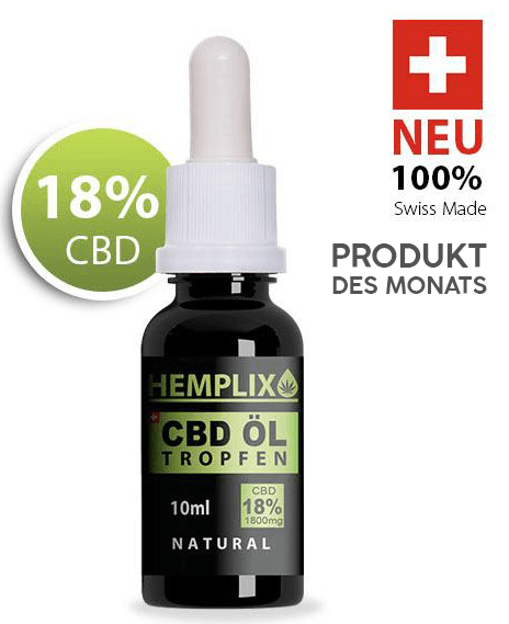 Hemplix CBD Öl Tropfen 18% 10ml Natural