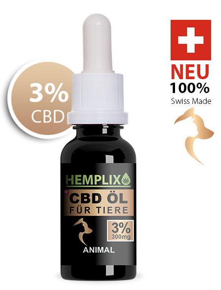 Hemplix CBD Öl Tropfen Animal 3% 10ml