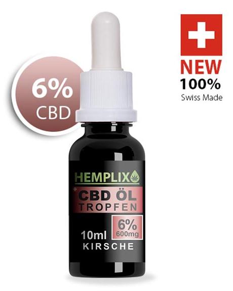 Hemplix CBD Öl Tropfen 6% 10ml Kirsche