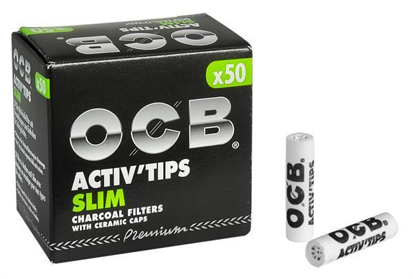 OCB Activ'Tips Slim Aktivkohlefilter 7mm 50 Stk.