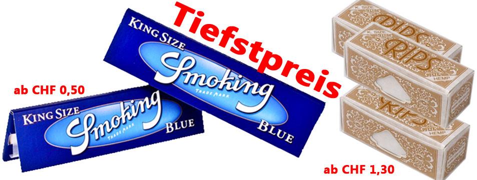 Rips Hemp King Size + Smoking Blue Tiefstpreis!