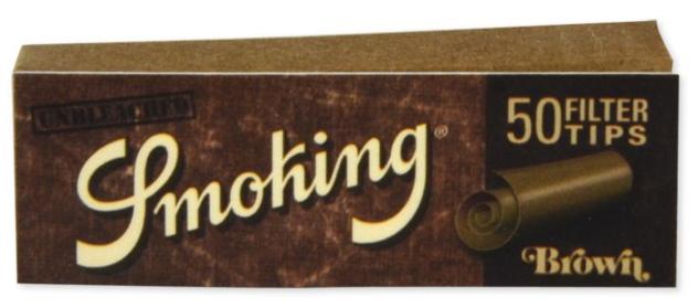 Smoking Brown Unbleached Filtertips