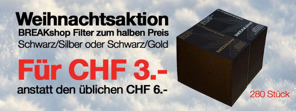 BREAKshop Filter Schwarz/Silber Schwarz/Gold 50% günstiger!