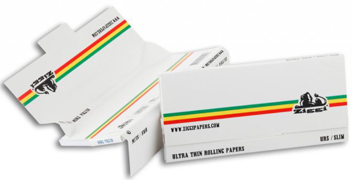 Ziggi Papers Urs 3 in 1 White / Stripe Slim + Tips